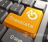 Profesionalūs įvairių kalbų vertimai (greiti)!
