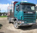 Scania R 124, medienvežiai (miškavežiai)