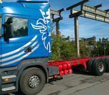 Scania R580, važiuoklės