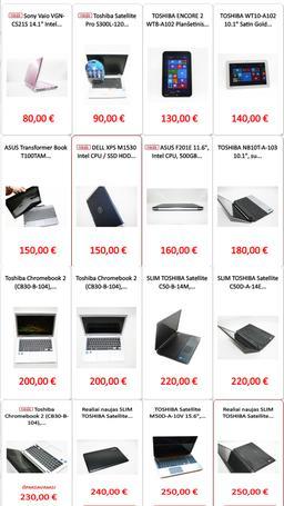 Nauji, naudoti nešiojami, planšetiniai kompiuteriai už geriausią kainą, su garantija