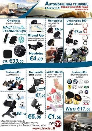 AUTOMOBILINIAI TELEFONŲ LAIKIKLIAI NUO 1,50 eur