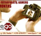 Profesionalus, greitas FOTO/VAIZDO kamerų remontas Šiauliuose