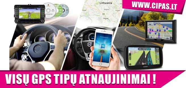 GPS navigacijų remontas, navigacijų servisas, žemėlapių atnaujinimas