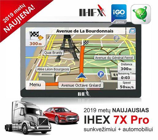 NAUJA IHEX-7X PRO NAVIGACIJA automobiliams ir sunkvežimiams